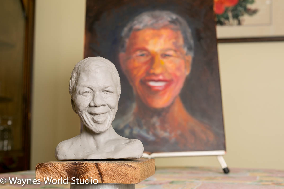 Vancity Artist wedding photographer sculpture Nelson Mandela