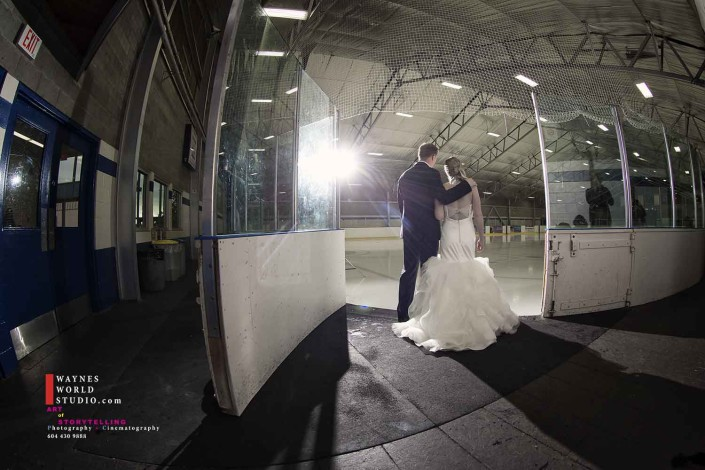 Wedding Couple found love on Ice