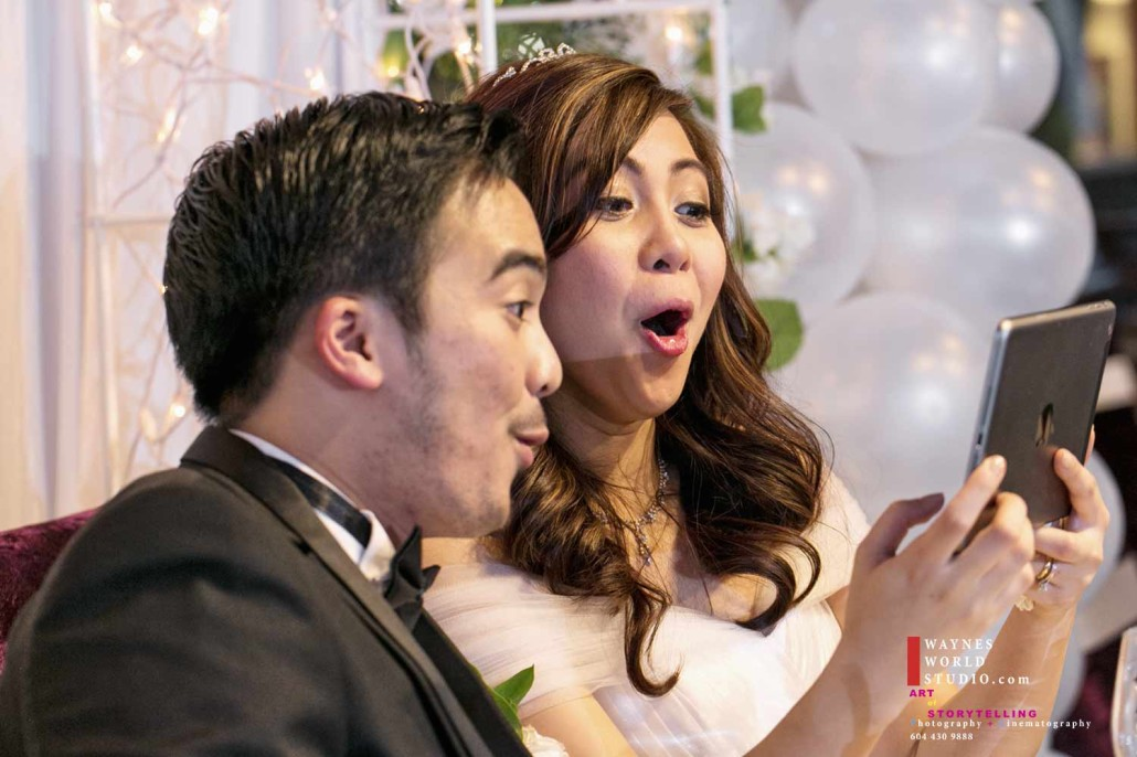 couple expression watching first time engagement video