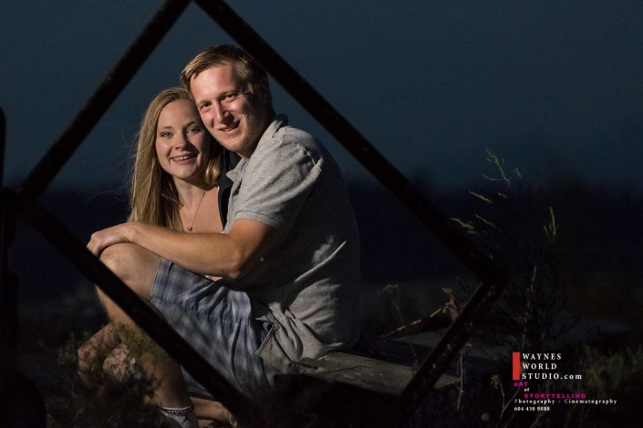 Engagement Couple Capture in Framed Series