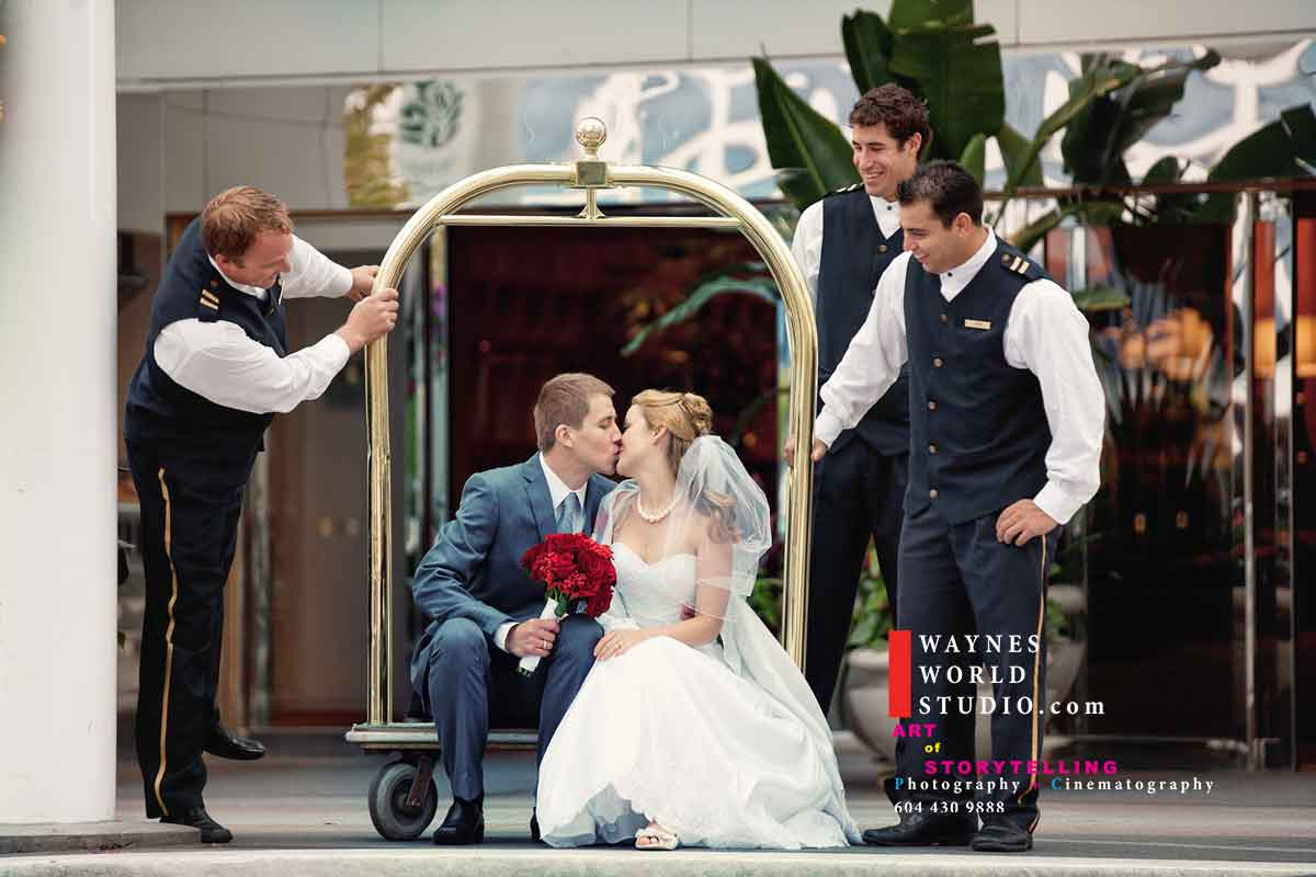 Downtown Vancouver BC wedding Photographer