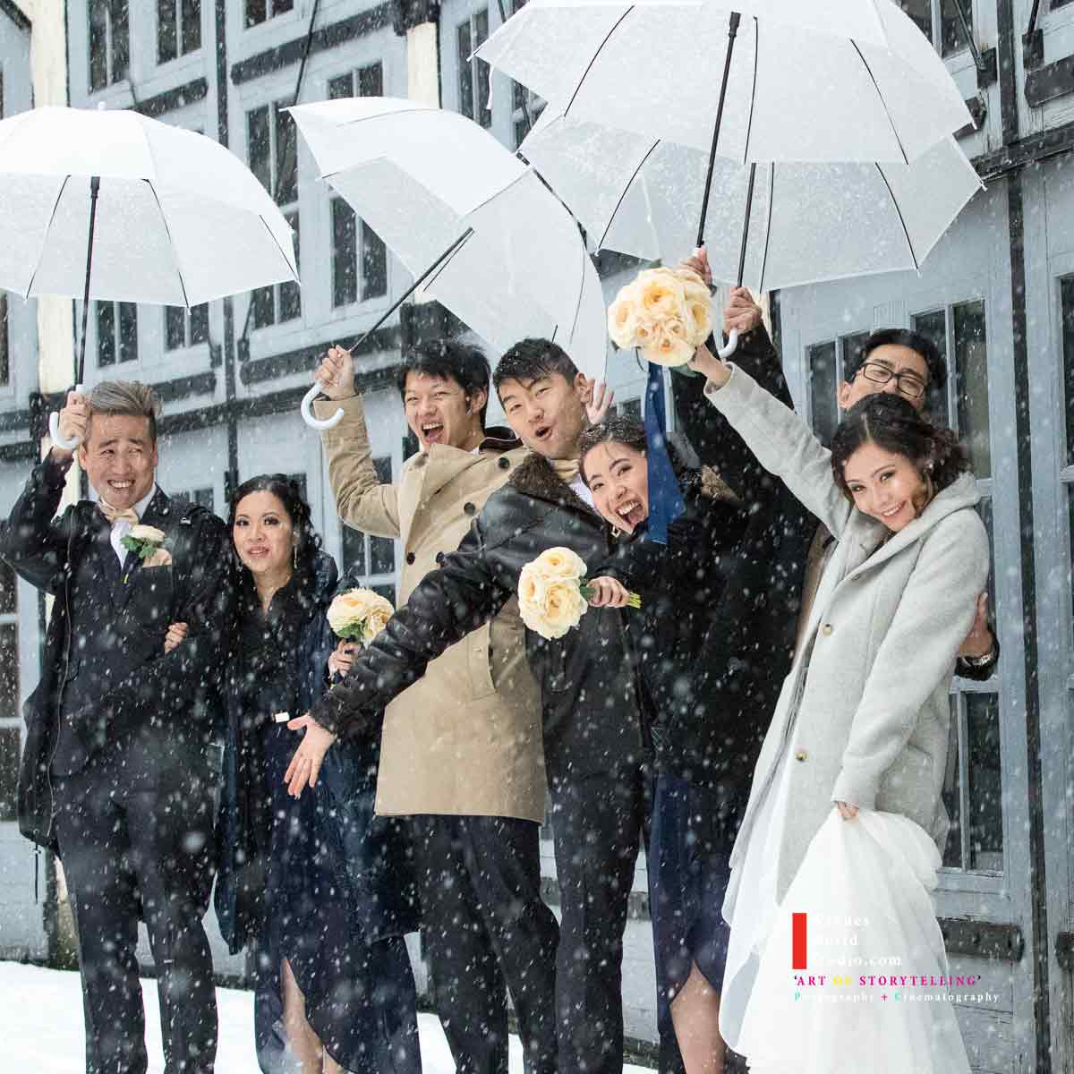 Yaletown Snow Wedding