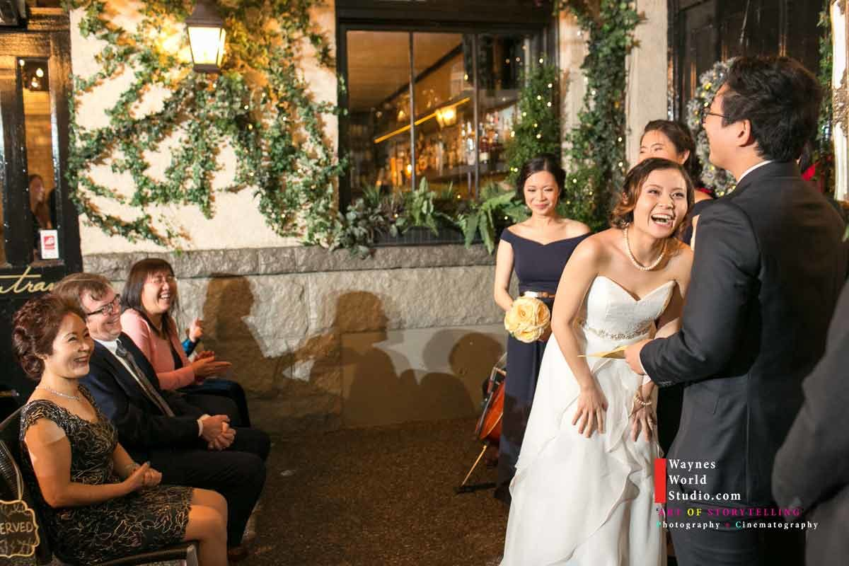 Bride laughted during Groom Humor speech