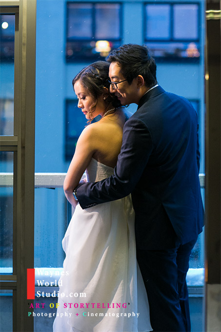 Romance wedding portrait in Yaletown