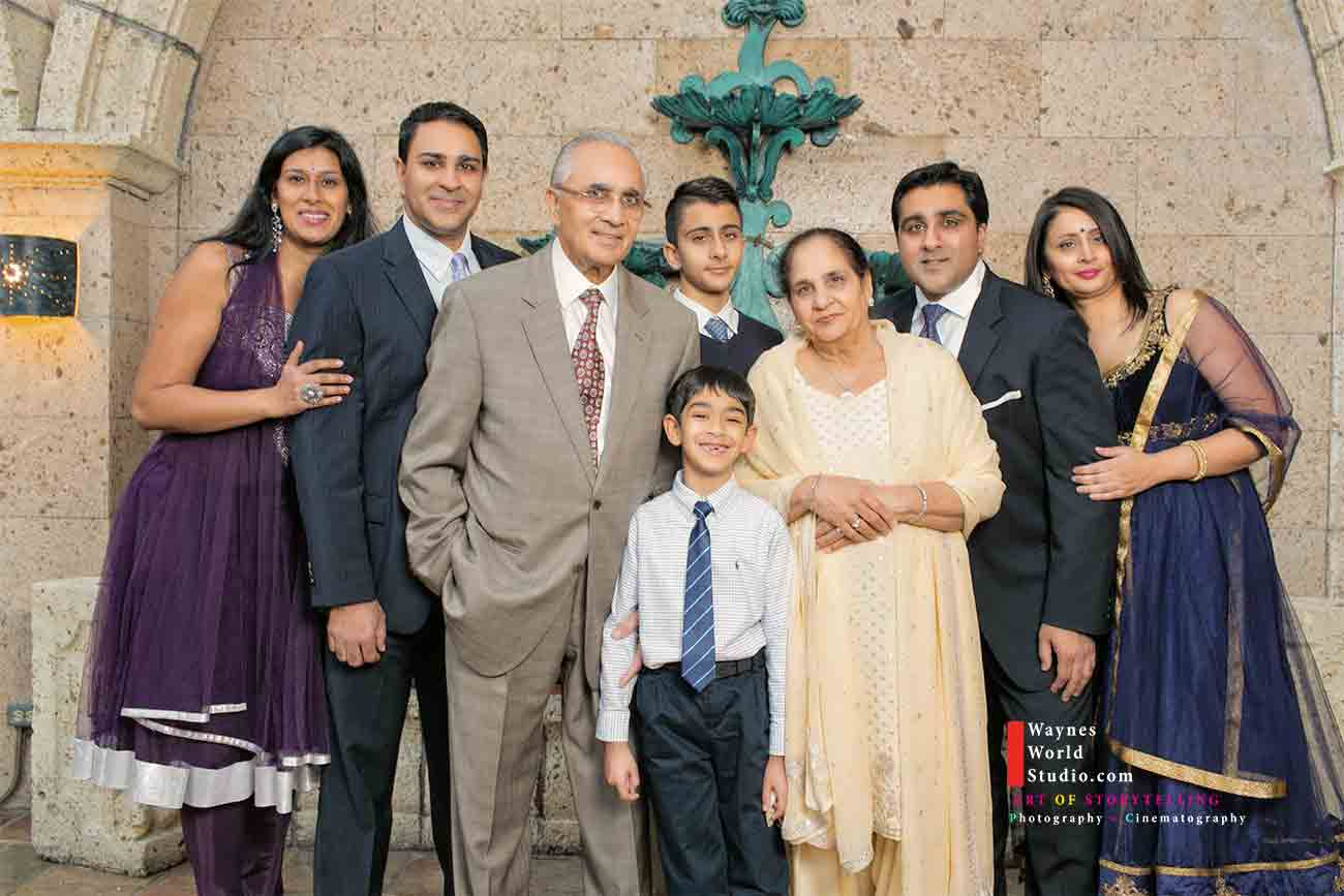 Vancouver South Asian Family Portrait photography