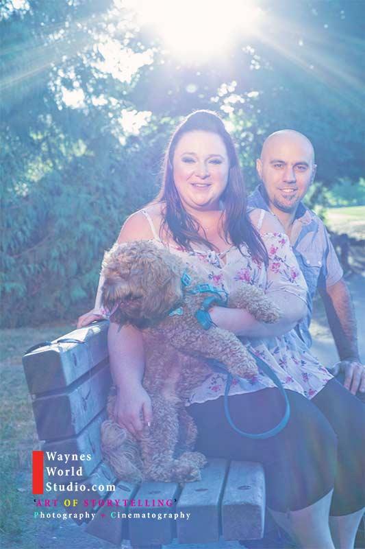 Vancouver Couples Pet engagement portrait