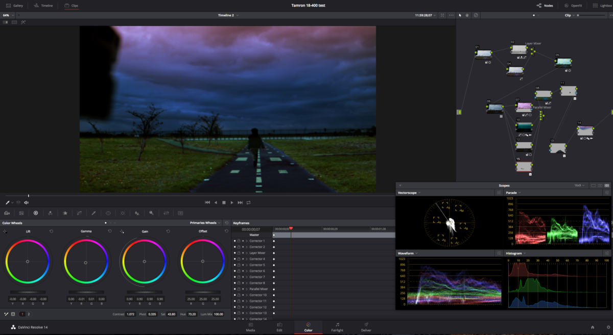 Before & After Color Grading