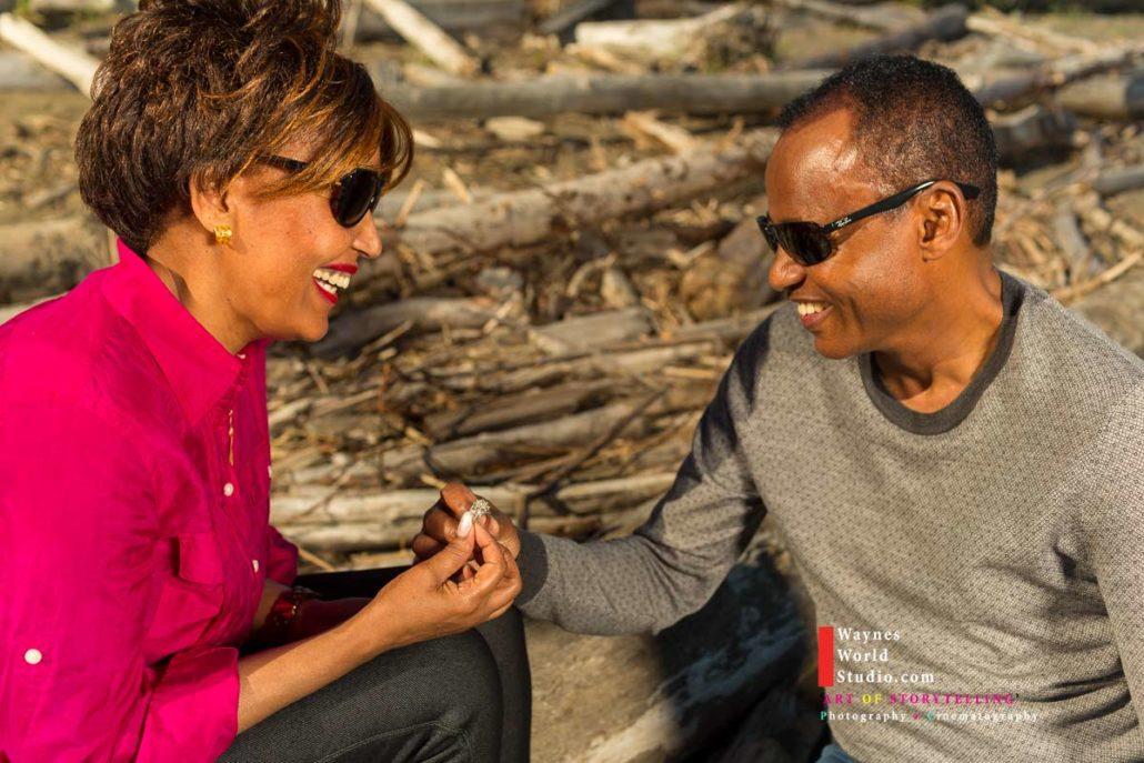 Vancouver Ethiopian Engagement Portrait